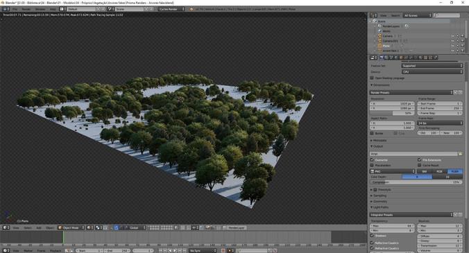 création d'un environnement 3d avec blender